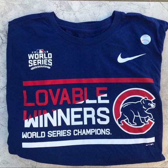 super popular 1ac31 0fa28 Nike Chicago Cubs World Series Tee